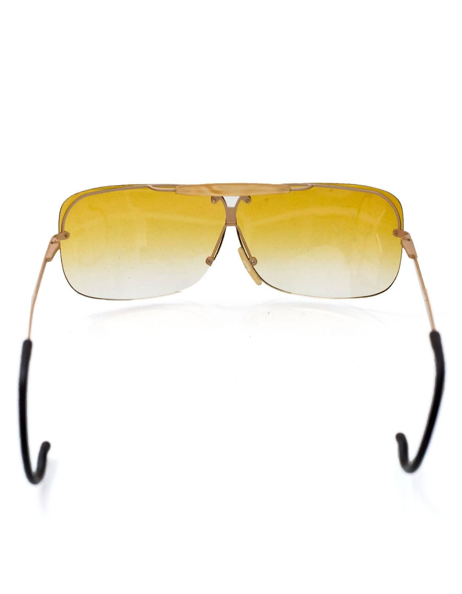 3a508a2fe449 Bottega Veneta Vintage Yellow Ombre Sunglasses with Case For Sale at 1stdibs