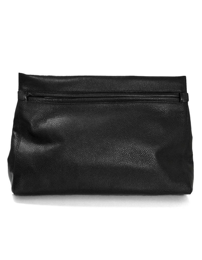 3f8a5220ab4 Tom Ford Black Leather Oversized Alix Padlock Clutch Bag with Dmust Bag In  Excellent Condition For