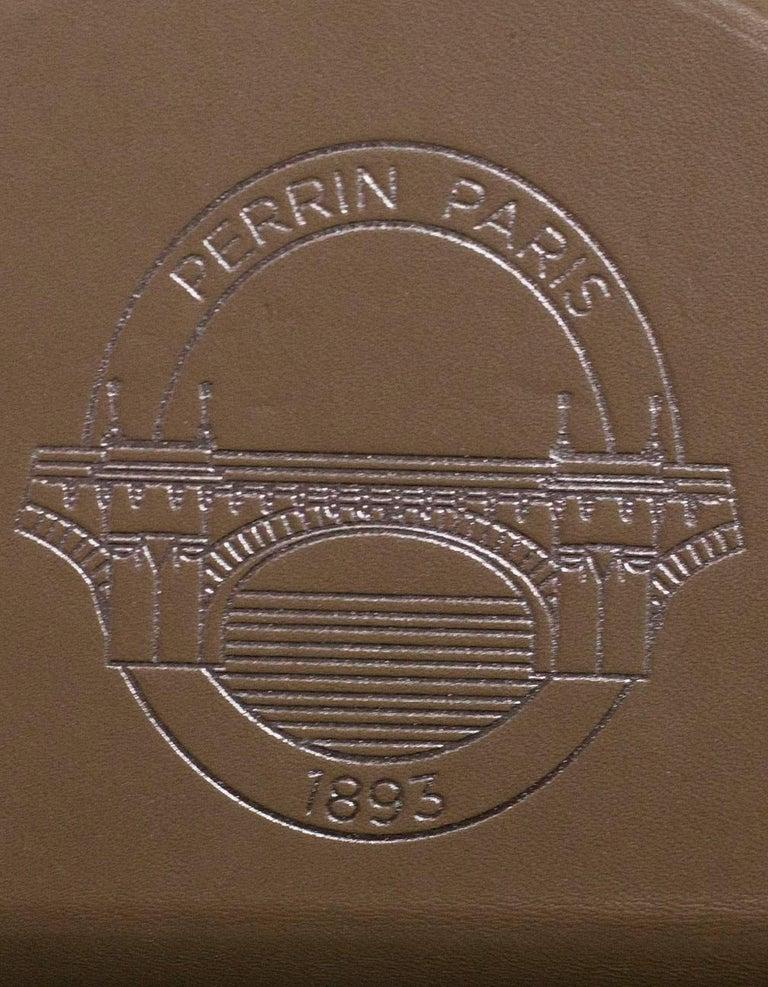 Perrin Taupe Calf Leather Le Mini Seau Structured Bucket Bag For Sale 3