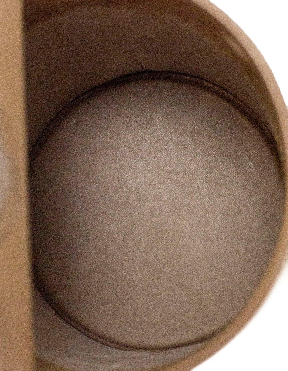 Le Taupe perrin taupe calf leather le mini seau structured bucket bag for