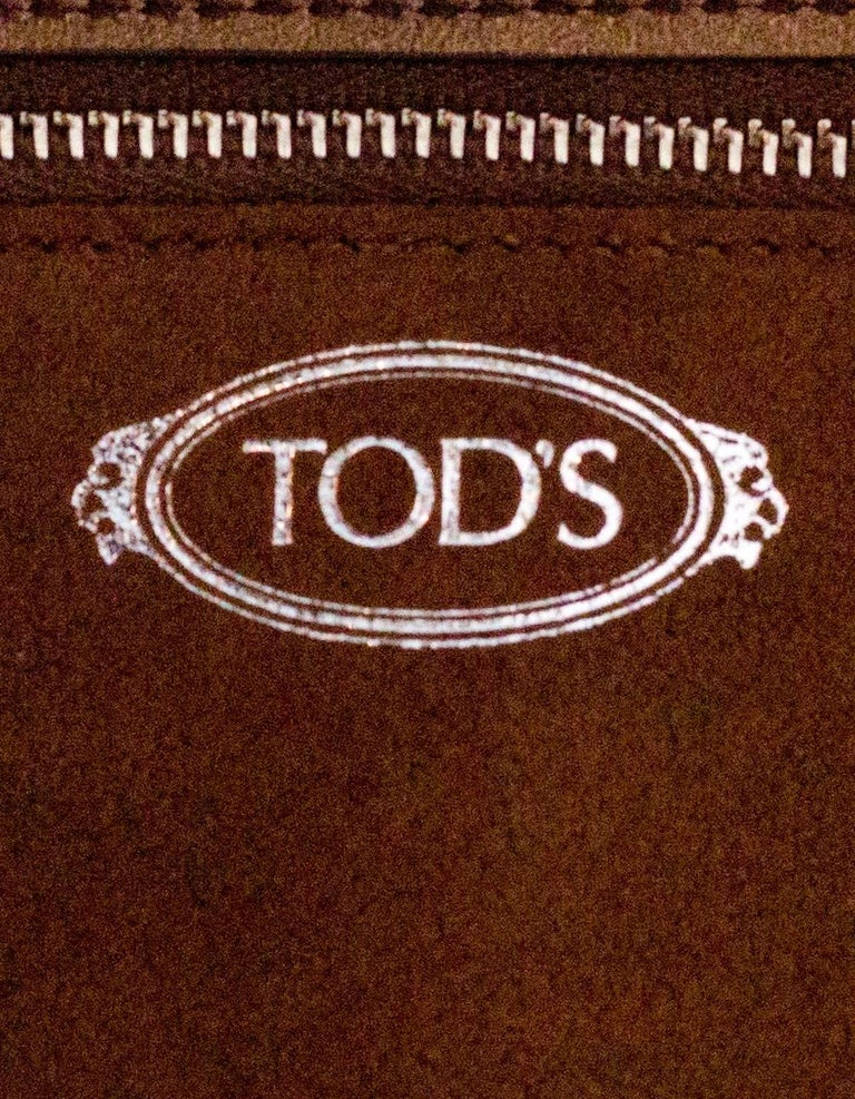 Tod's Bronze Small Wave Gommini Top Handle Bag with Strap rt. $2,165 For Sale 4