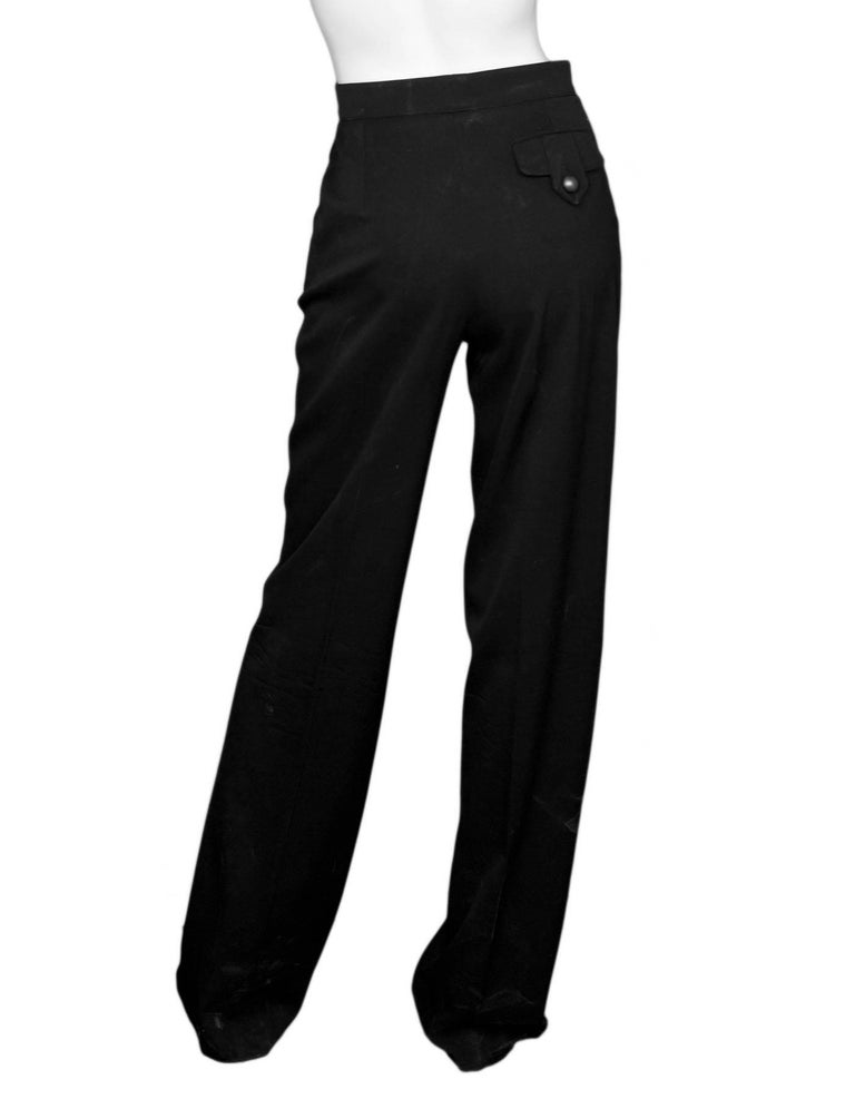 Fendi Black Wool Pants Sz IT38 In Good Condition For Sale In New York, NY