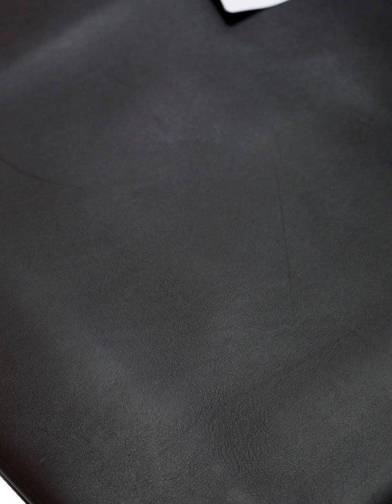 Celine Black Smooth Calfskin Triple Shopper Tote Bag With