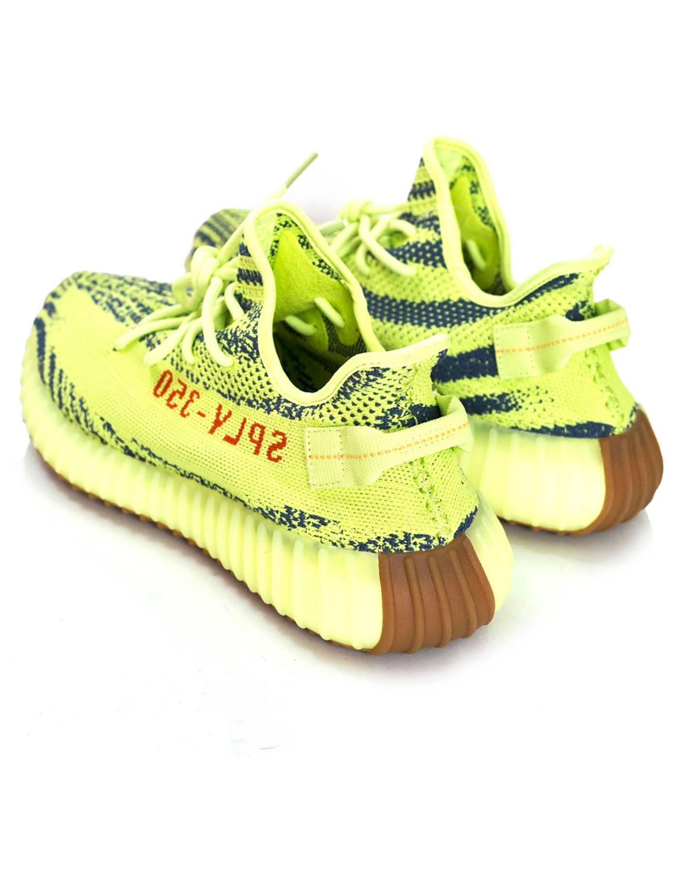 4ec2178cc1e ... new zealand adidas x kanye west yeezy boost 350 v2 semi frozen yellow  2.0 sneakers sz ...