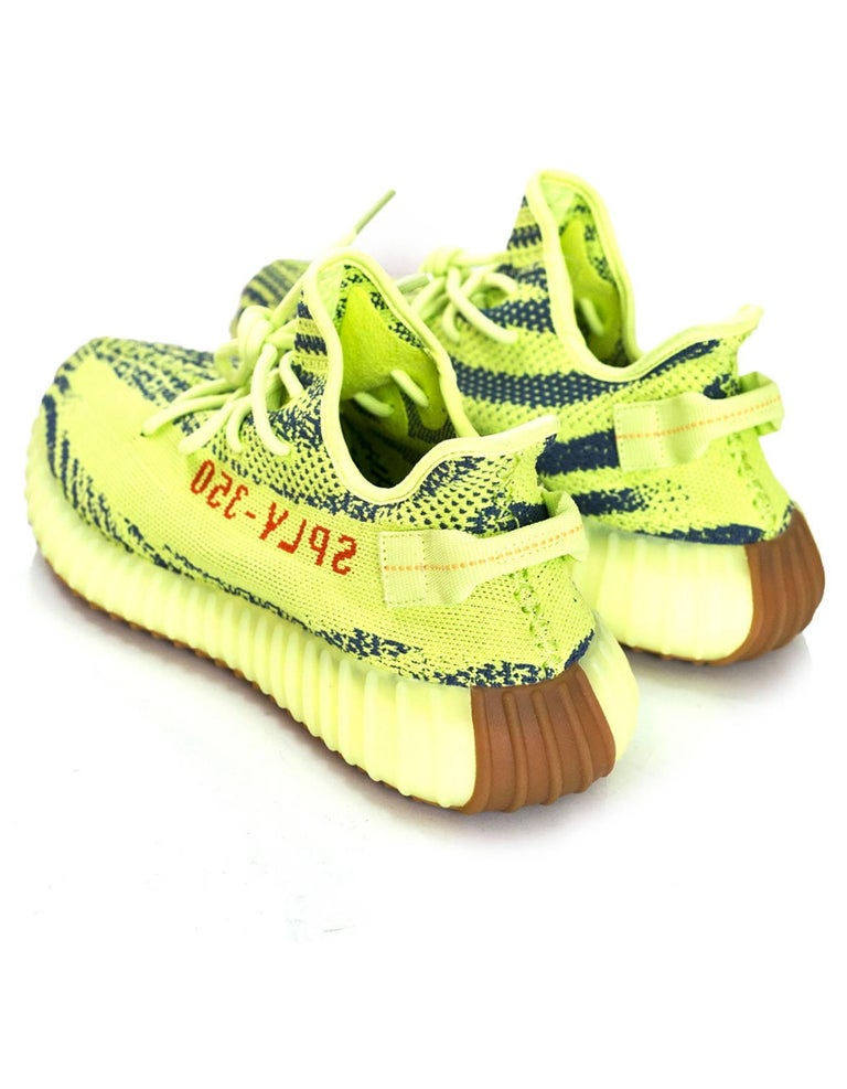 14b96b03047d6 Adidas x Kanye West Yeezy Boost 350 V2 Semi Frozen Yellow 2.0 Sneakers Sz  10 NIB