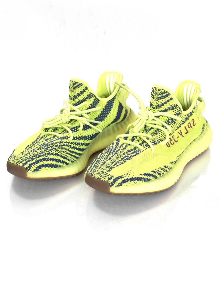 sports shoes a427b 3b5d5 Adidas x Kanye West Yeezy Boost 350 V2 Semi Frozen Yellow 2.0 Sneakers Sz  10 NIB