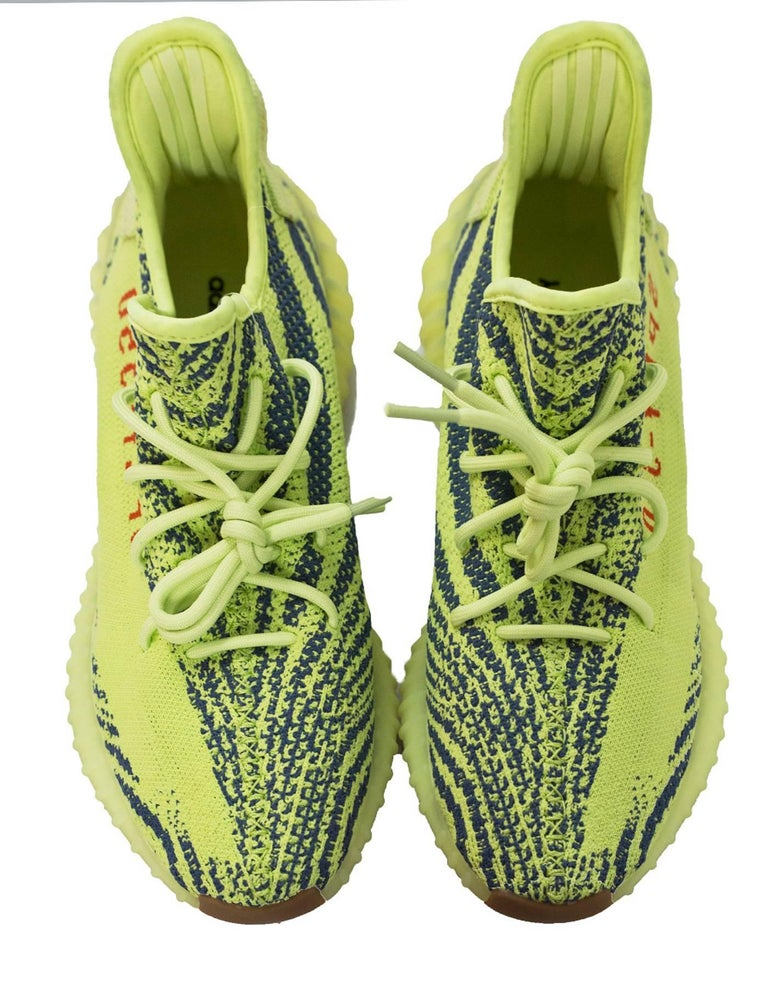sports shoes 474fd 181a2 Adidas x Kanye West Yeezy Boost 350 V2 Semi Frozen Yellow 2.0 Sneakers Sz  10 NIB