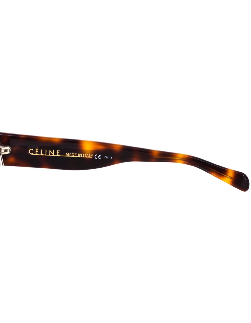 52456e6a56 Celine Tortoise Polarized CL 41756 ZZ Top Sunglasses with Case For Sale at  1stdibs