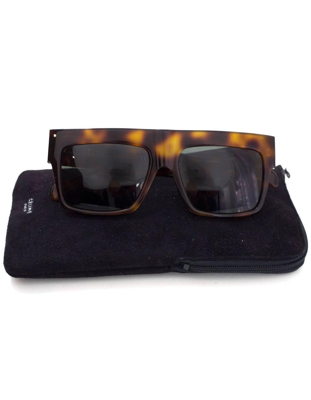 22cd44ce8859c Celine Tortoise Polarized CL 41756 ZZ Top Sunglasses with Case For Sale at  1stdibs