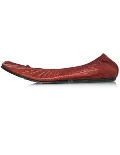Lanvin Rust Leather Flats Sz 37.5