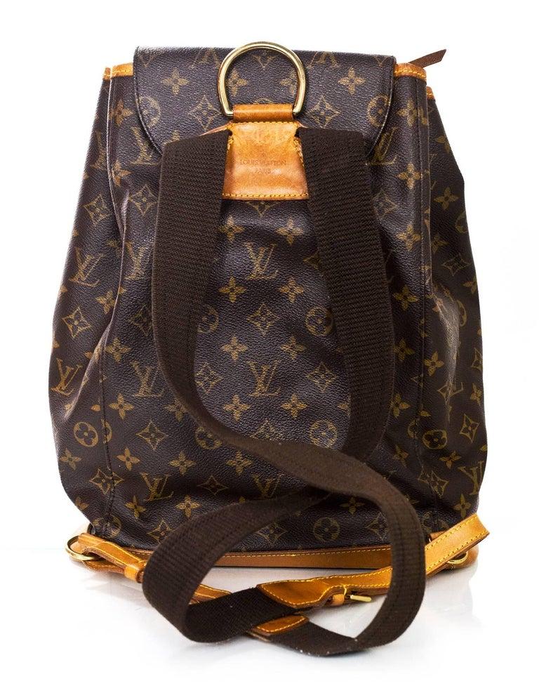 758d1270ab84 Black Louis Vuitton Monogram Montsouris GM Backpack Bag For Sale