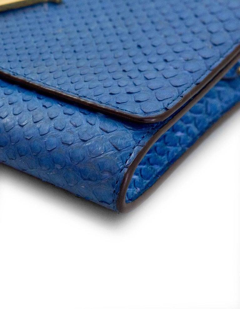 Louis Vuitton Cobalt Blue Python Chain Louise Clutch Shoulder Bag 3