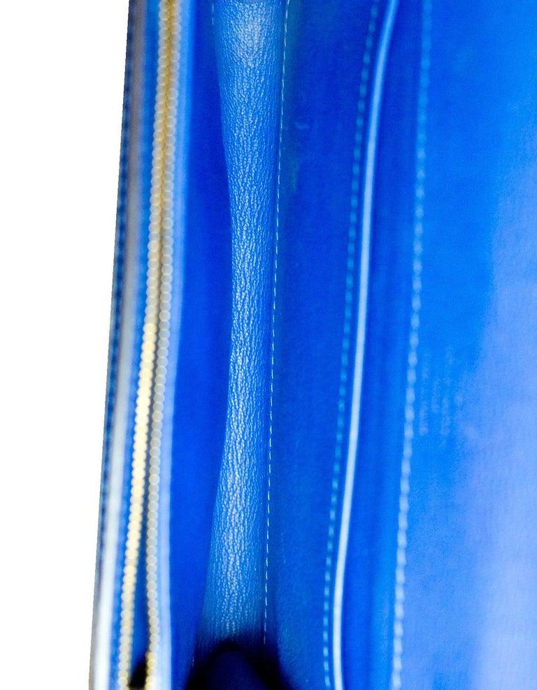 Louis Vuitton Cobalt Blue Python Chain Louise Clutch Shoulder Bag 7