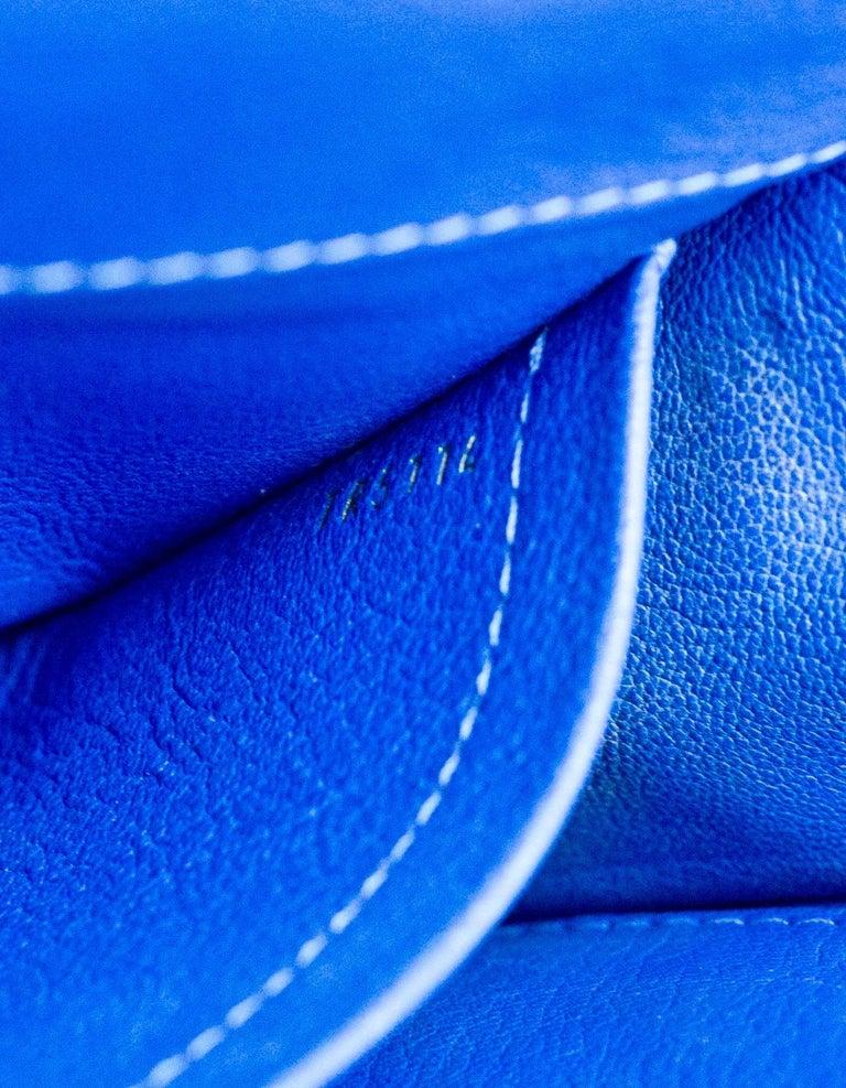 Louis Vuitton Cobalt Blue Python Chain Louise Clutch Shoulder Bag 9