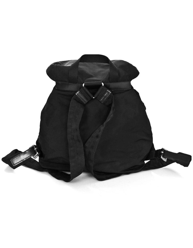 e02bab629225 Prada Black Tessuto Backpack Made In: Italy Color: Black Hardware: Silver  Materials: