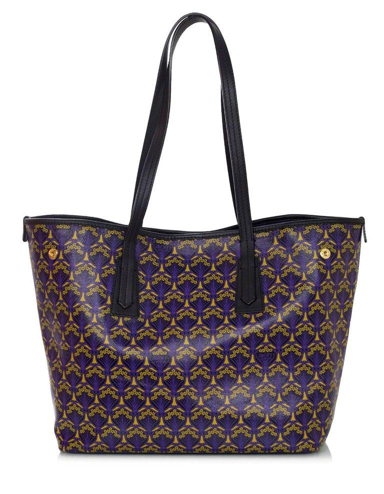 Black Liberty London Purple Marlborough Iphis Print Tote Bag Rt 595 For