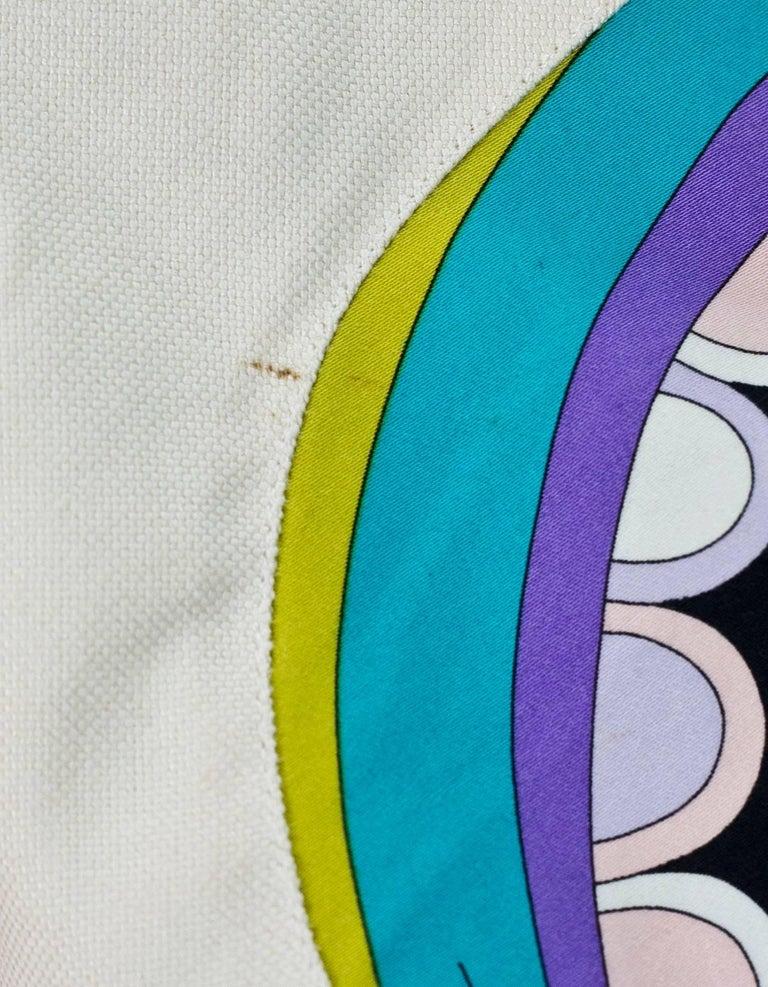 Women's Emilio Pucci Beige & Multi-Colored Printed Jacket sz US4 For Sale