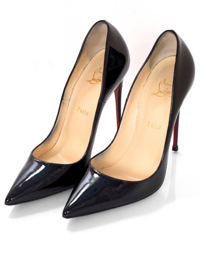 brand new 0c96b 5c390 Christian Louboutin Black Patent So Kate 120 Pumps sz 41