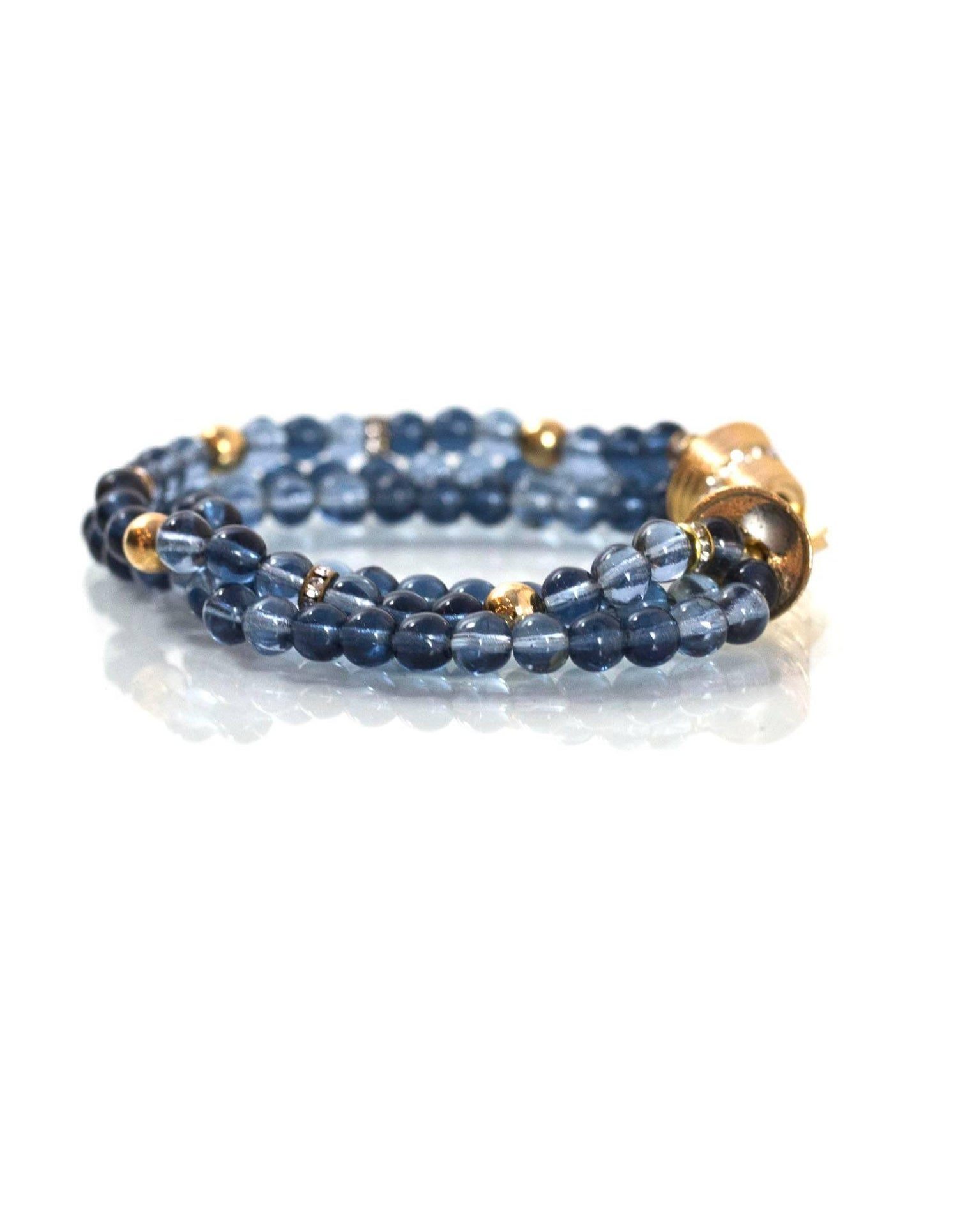 v three beads master blue glass id christian beaded sale bracelet jewelry at strand for bracelets dior bead