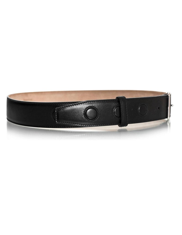 d73155d1f3 Christian Dior Black Leather 35mm Belt with D Buckle Sz Large NWT