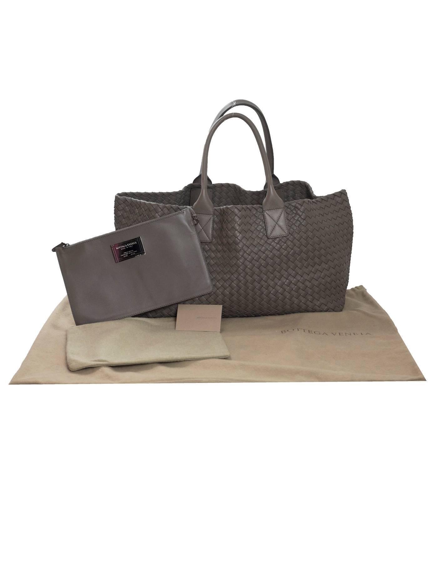 Bottega Veneta Taupe Intrecciato Leather Medium Cabat Tote Bag rt ... 51512d1bd07c7