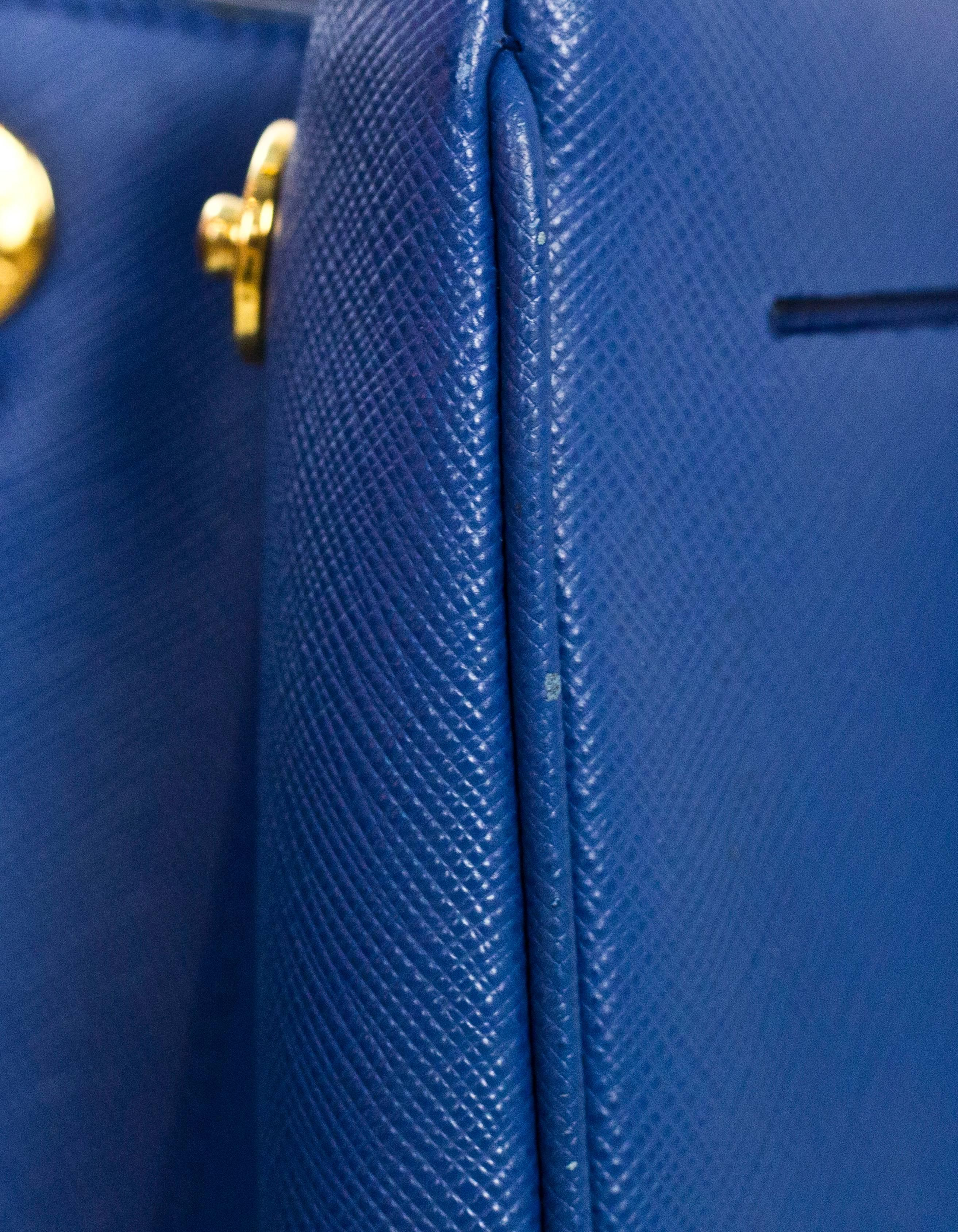 c470248971cc ... sale prada blue medium galleria saffiano leather tote bag w strap for  sale at 1stdibs 1de3b