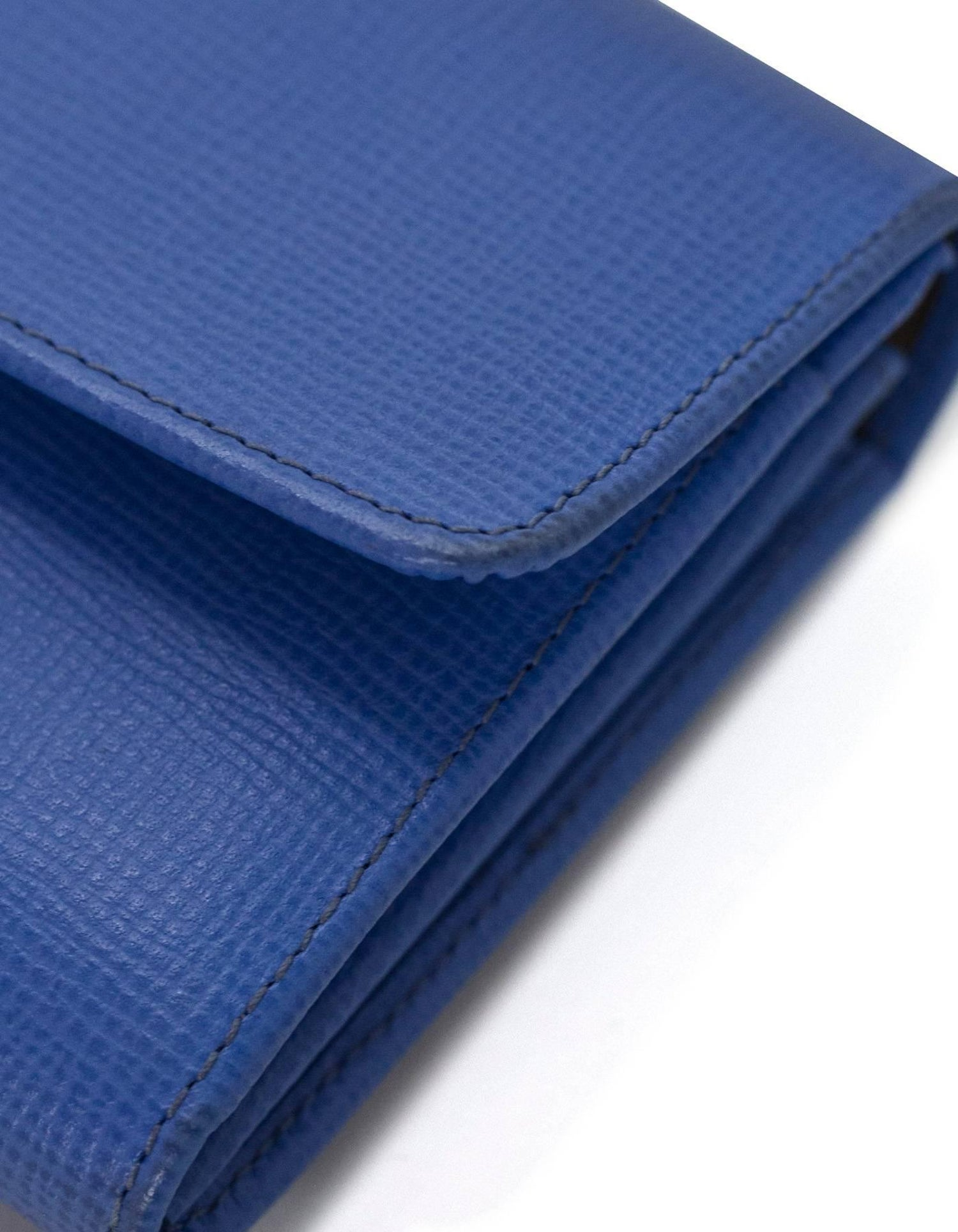 c562aa174bdeb6 Bally Blue Embossed Leather Continental Wallet with Box For Sale at 1stdibs