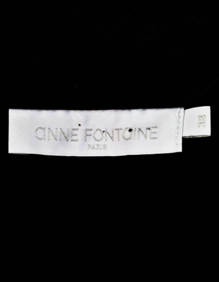 Women's Anne Fontaine Black Sheer Longsleeve Top Sz FR38 For Sale