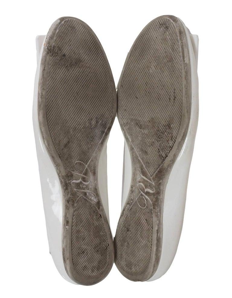 Roger Vivier White Patent Gommette Ballerina Flats Sz 40 For Sale 1