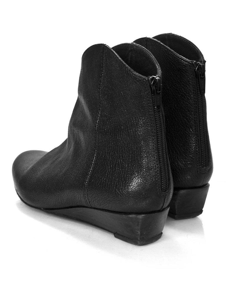 Women's Stuart Weitzman Black Leather Ankle Boots Sz 6 For Sale