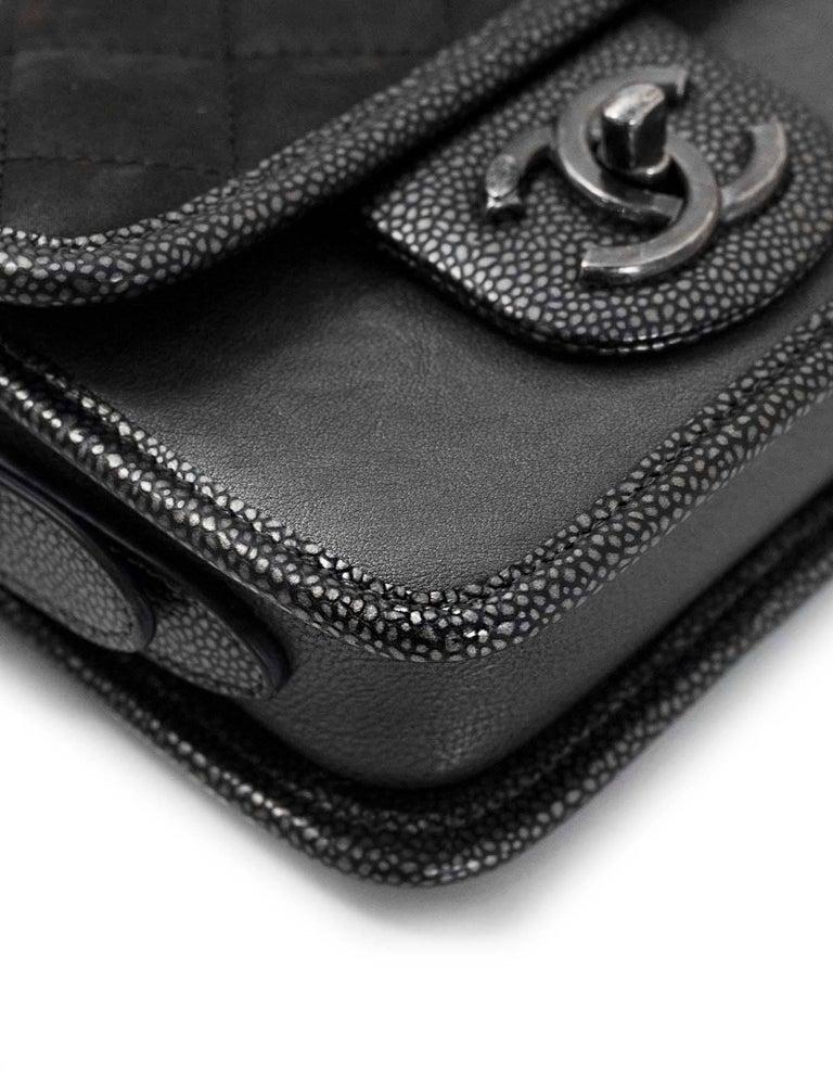 92dfe978c2c3 Chanel Grey Iridescent Paris/Bombay Back to School Mini Flap Crossbody Bag  In Excellent Condition