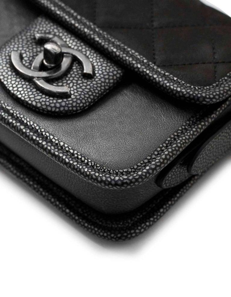 15d7011d9b3b Women's Chanel Grey Iridescent Paris/Bombay Back to School Mini Flap  Crossbody Bag For Sale