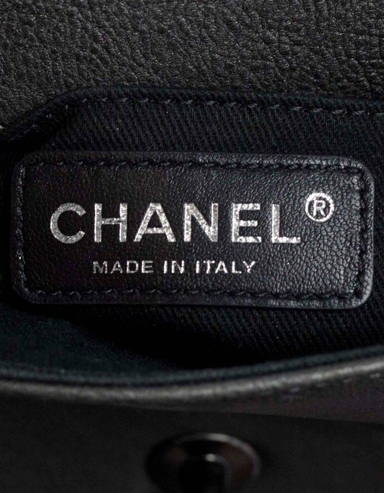 33fce1127c01 Chanel Grey Iridescent Paris/Bombay Back to School Mini Flap Crossbody Bag  For Sale 3