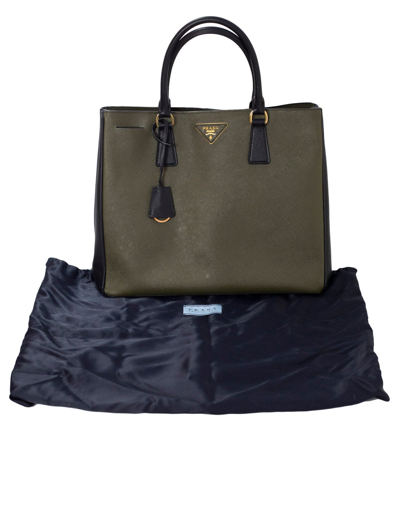 846deba560 ... norway prada black and green militaire saffiano leather tote bag for  sale at 1stdibs 62e28 5286d