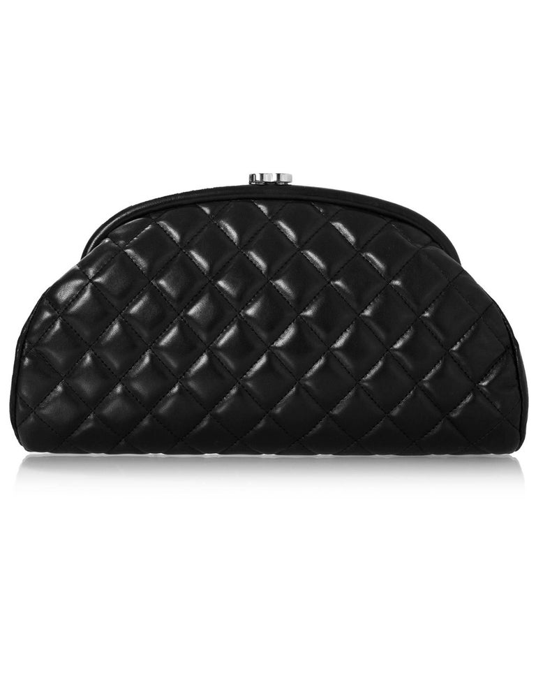 Chanel Black Quilted Lambskin Timeless Clutch Bag For Sale at 1stdibs : chanel quilted clutch bag - Adamdwight.com