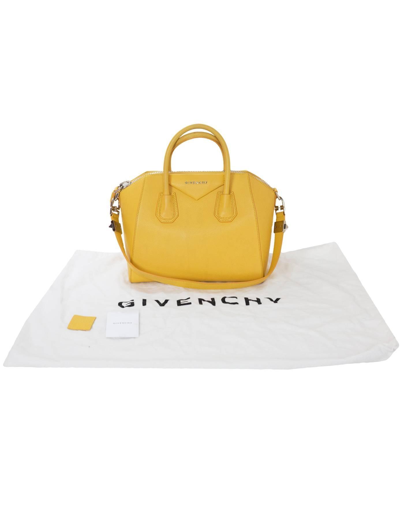 Givenchy Yellow Leather Small Antigona Satchel