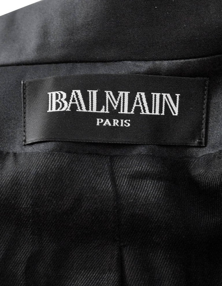 Balmain Black Wool Open Front Blazer sz FR34 For Sale 1