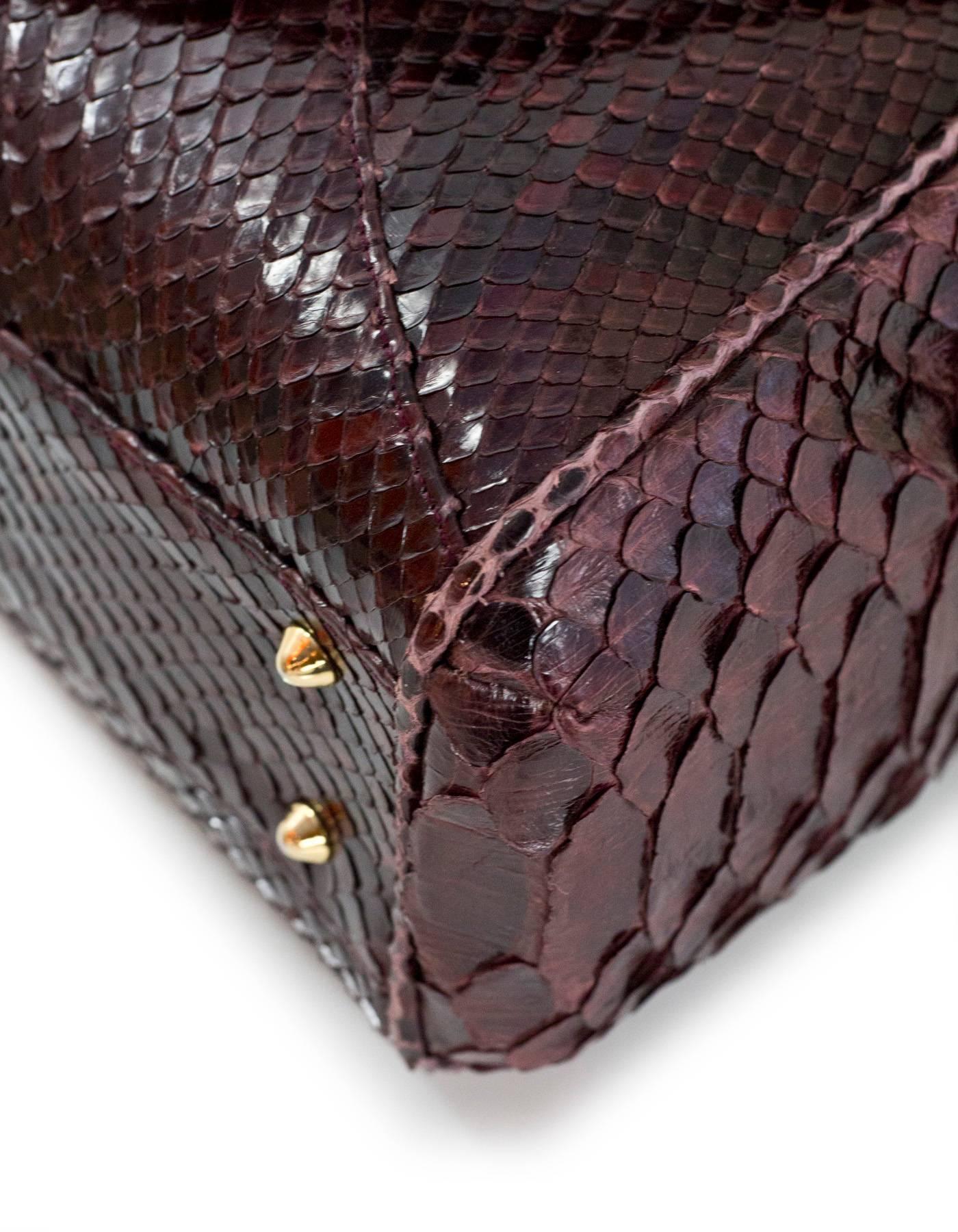 1stdibs Kara Ross Burgundy Python Snakeskin Trinity Lady Bag Sathel CzsLW8