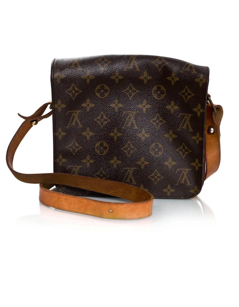 Black Louis Vuitton Monogram Canvas Cartouchiere MM Messenger Bag For Sale
