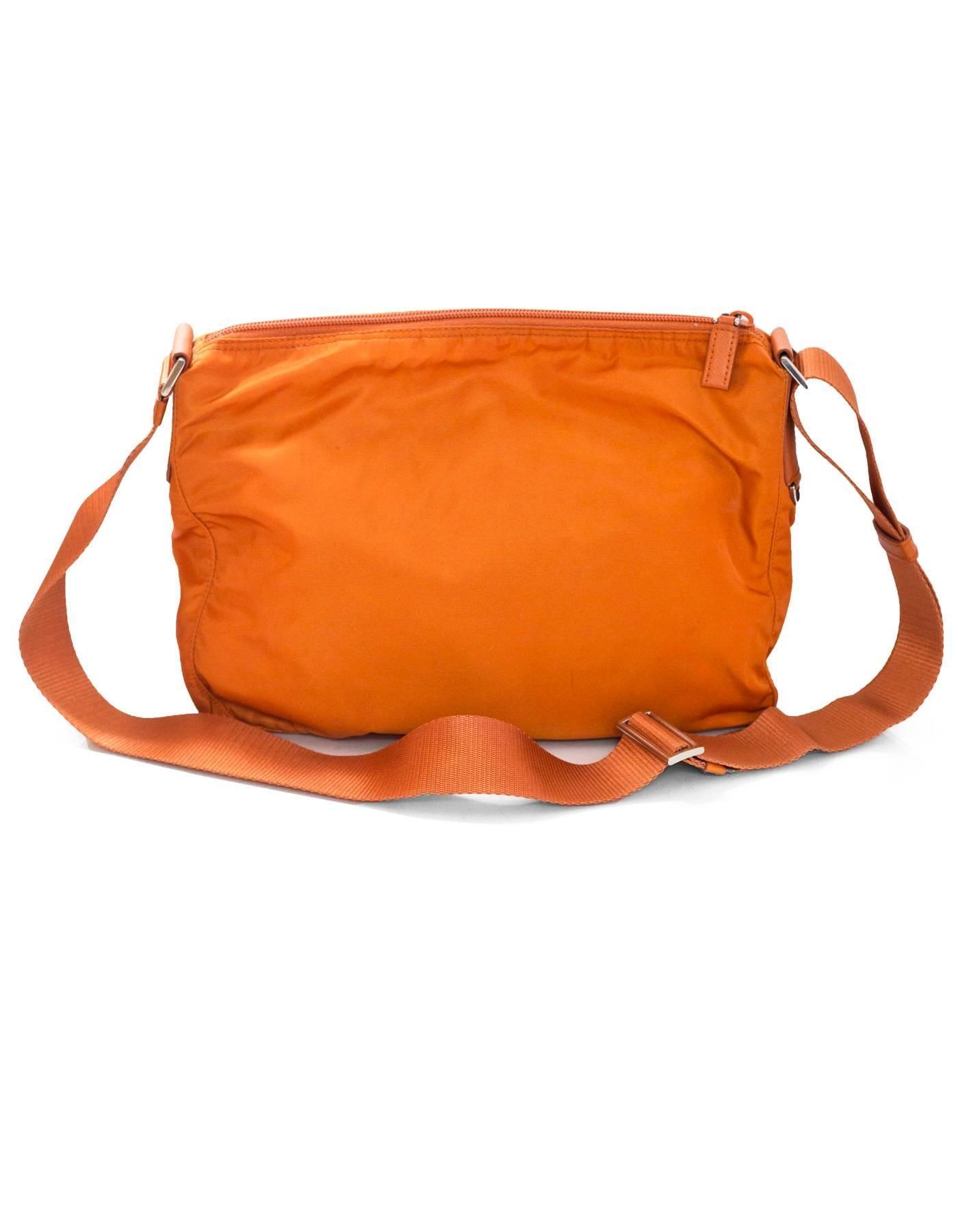 1f6cfca0b77c ... sweden prada orange tessuto nylon messenger crossbody bag in excellent  condition for sale in new york