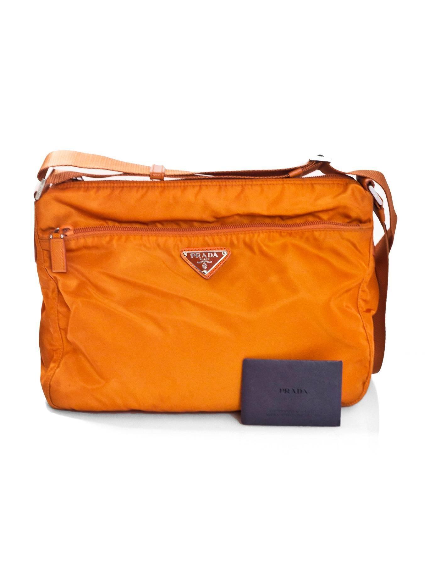 98f239306d96 Prada Orange Tessuto Nylon Messenger Crossbody Bag For Sale at 1stdibs
