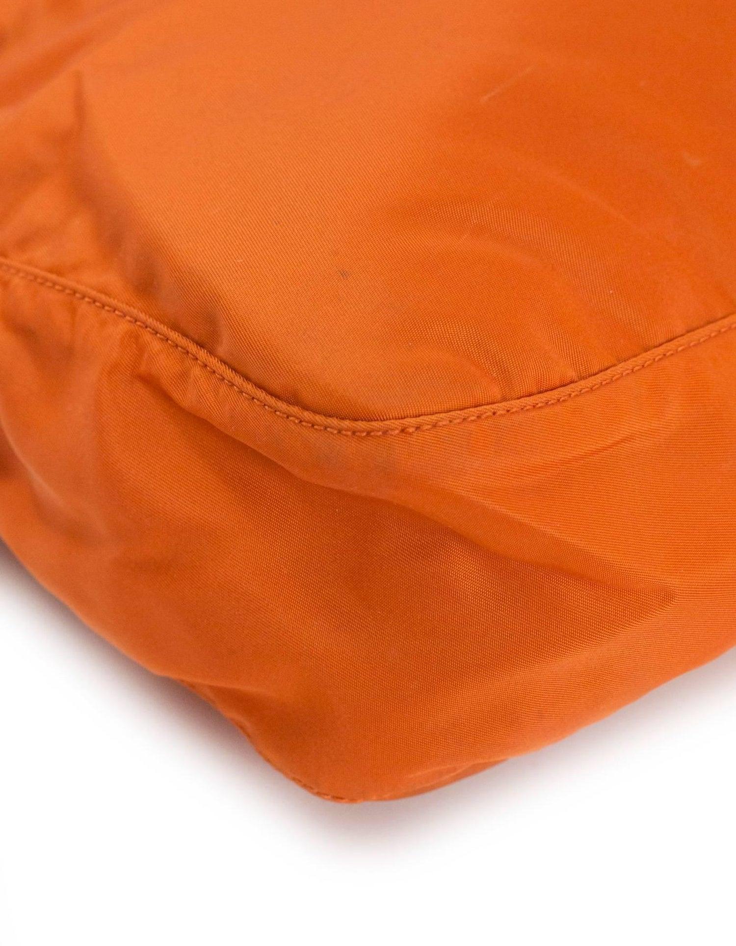 515589a067e3 Prada Orange Tessuto Nylon Messenger Crossbody Bag For Sale at 1stdibs