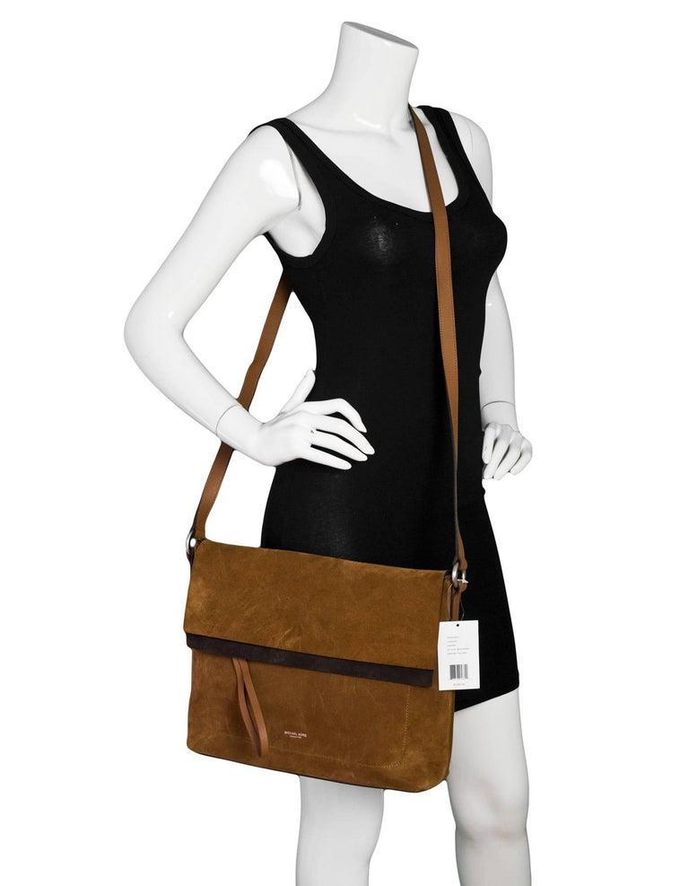 Michael Kors Collection Brown Suede Sedona Messenger Bag