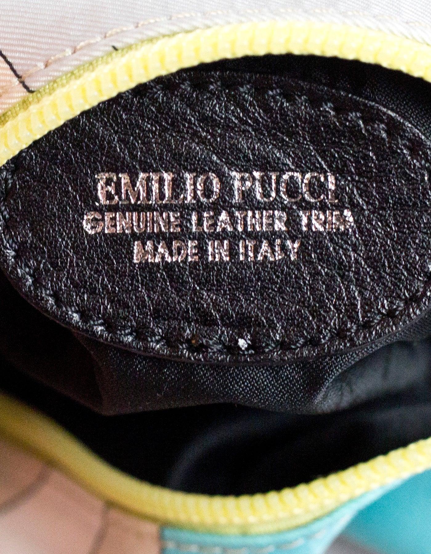 Emilio Pucci Multi-Color Print Cosmetic Bag