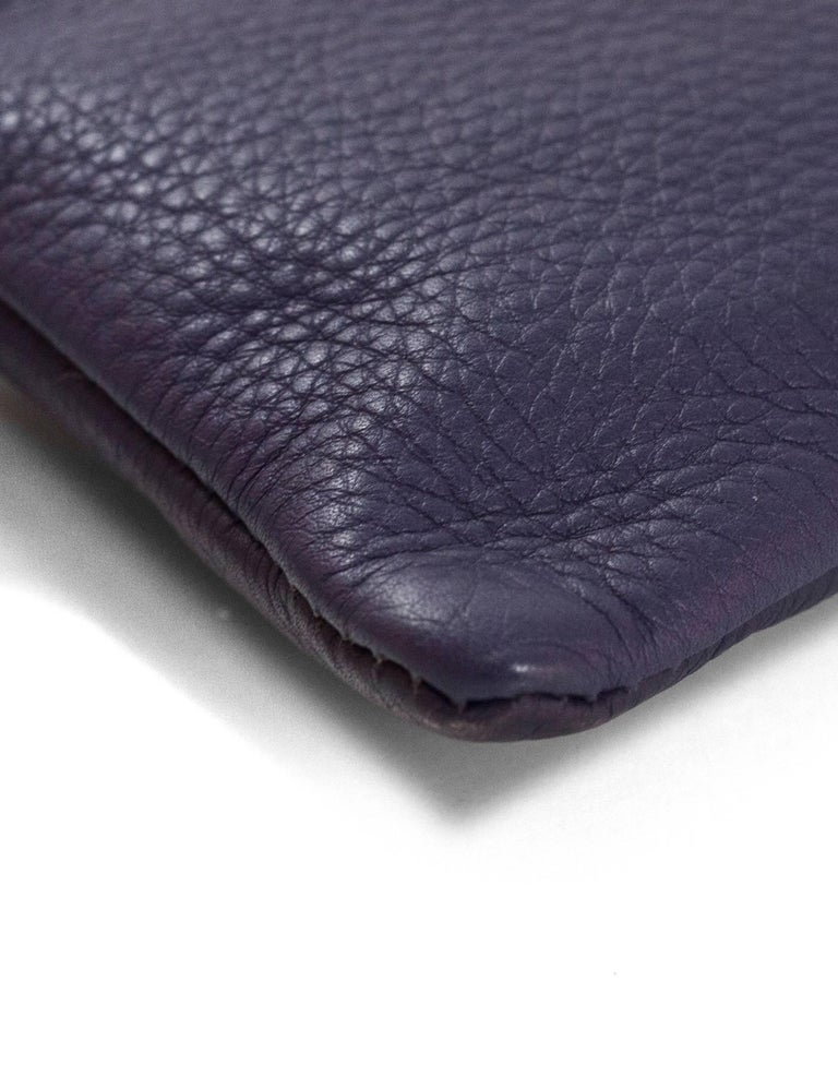 Fendi Navy Leather Selleria Pochette Bag In Excellent Condition For Sale In New York, NY