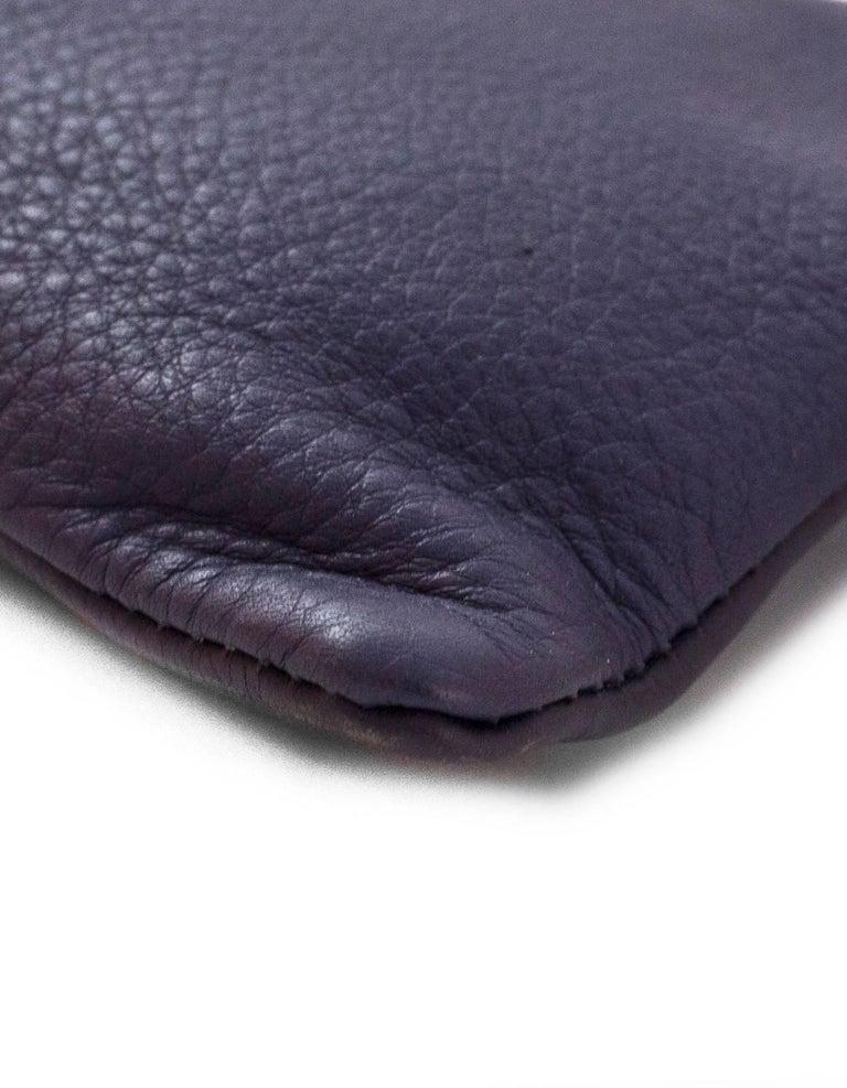 Women's Fendi Navy Leather Selleria Pochette Bag For Sale