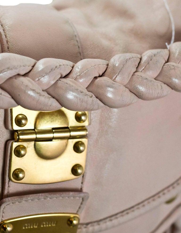 Miu Miu Blush Matelasse Lambskin Coffer Satchel Bag with DB For Sale 1