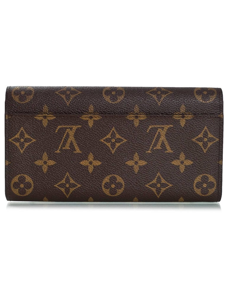 Black Louis Vuitton 2016 Illustre Transatlantic Christmas Monogram Sarah Wallet For Sale