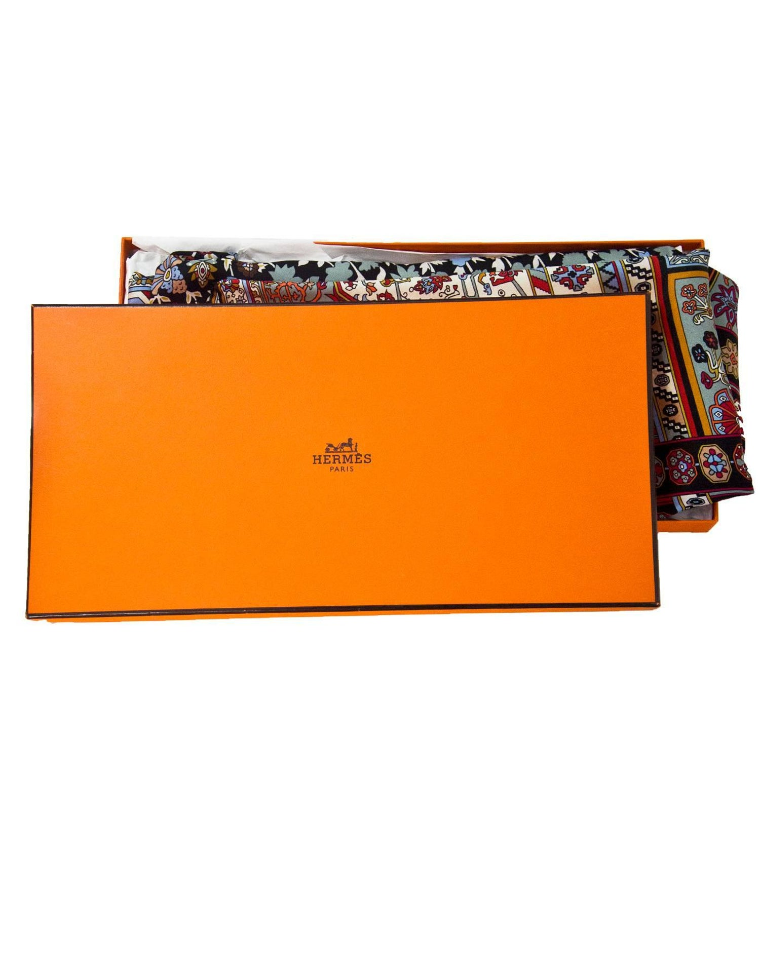 Hermes Multi Color Tapis Persans Silk 140cm Scarf With Box For