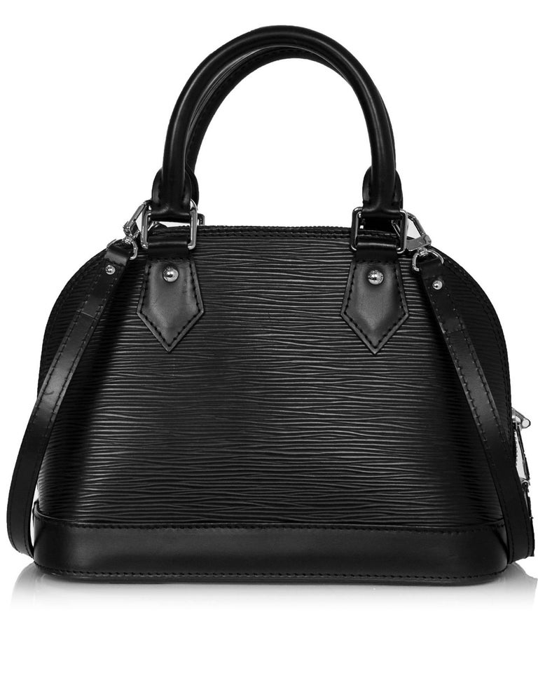 ee46893eb450 Women s Louis Vuitton Black Noir Epi Leather Alma BB Crossbody Bag For Sale
